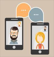 Moderne vectorillustratie van online chat