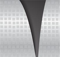 gesneden plaat metaal scheuren en ruimte zwarte achtergrond vectorillustratie vector
