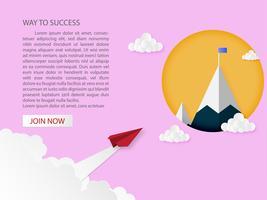eadership en zakelijk succes idee concept.