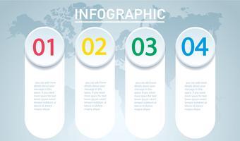 cirkel infographic. Vectormalplaatje met 4 opties. Kan worden gebruikt voor web, diagram, grafiek, presentatie, grafiek, rapport, stap voor stap infographics. Abstracte achtergrond