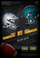 Amerikaanse voetbal Poster vectorillustratie
