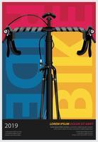 Fietsen Poster ontwerpsjabloon vectorillustratie