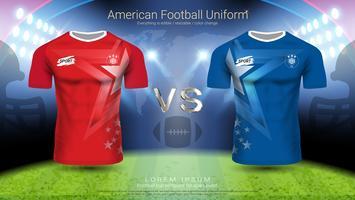 American football-speler uniform. vector