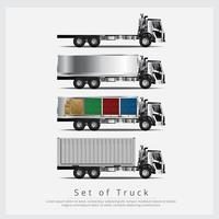 Reeks Ladingsvrachtentransport met Container geïsoleerde Vectorillustratie