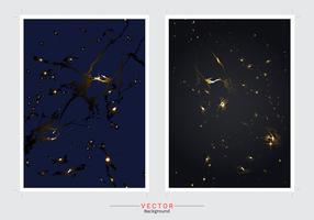 Gouden marmeren imitatiedekking achtergrond vectorreeks.