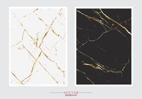 Gouden marmeren dekkingsachtergrond. vector