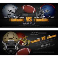 2 Banner American football ontwerp vectorillustratie