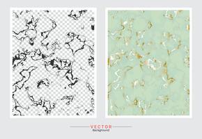 Marmer met gouden textuurachtergrond. vector