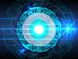 Blauwe geavanceerd technische abstracte achtergrond. vector