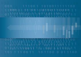 abstracte technologie pijlpictogram en computercode programmeren codering hacker concept achtergrond