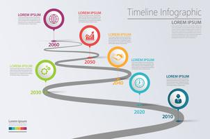Presentatie Zakelijke routekaart infographic sjabloon