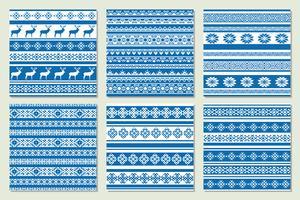 Etnisch Noords patroon met herten. Vector illustratie.