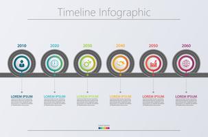 Presentatie Zakelijke routekaart infographic sjabloon.