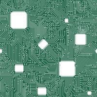 EPS-vector moederbord abstracte naadloze achtergrond. vector
