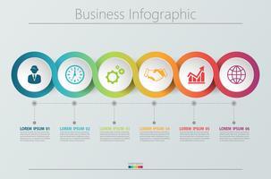 Presentatie zakelijke infographic sjabloon. vector