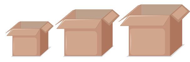 kartonnen dozen in een lijn