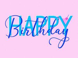 Gelukkige verjaardag Retro typografie
