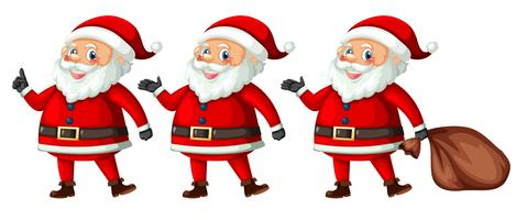 Kerstman met verschillende actie vector