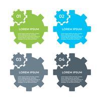 Zakelijke Infographic. Diagram met 4 stappen, opties of processen. Infographicsmalplaatje voor presentatie.