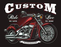 vintage motorfiets vector