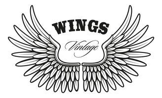 vintage wings_1 vector