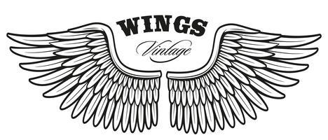 Vintage vleugels_2 vector