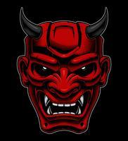 Japans demonenmasker. vector