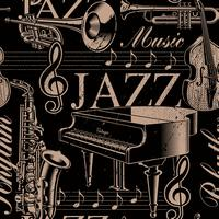 Muzikale naadloze achtergrond van jazzthema