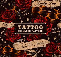 Tattoo naadloze achtergrond.