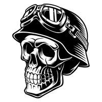Biker schedel vector