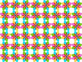Vectorillustratie van abstracte kleurrijke bloemen naadloze achtergrond