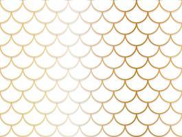 Naadloos patroon van overlappende gouden en witte cirkelachtergrond vector