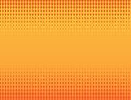 Vectorillustratie van oranje halftone bannersachtergrond
