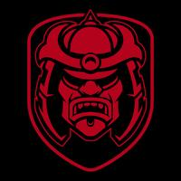 Samurai logo ontwerp. vector