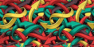 Naadloze kleurrijke achtergrond van Graffiti