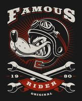 Wolf biker illustratie