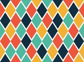 Naadloos patroon van kleurrijke geometrische vormen - Vectorillustratie