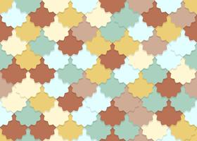 Naadloos patroon van overlappende de pastelkleurachtergrond van de bloemvorm vector