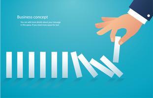het domino-effect. bedrijfs concept vector