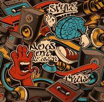 Naadloze graffitiachtergrond.