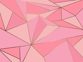 Abstracte roze veelhoek artistieke geometrisch met gouden lijnachtergrond