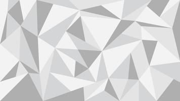 Grijze toon veelhoek abstracte achtergrond - vectorillustratie.
