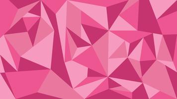 Roze toon veelhoek abstracte achtergrond - vectorillustratie.