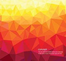 abstracte driehoek warme kleuren achtergrond