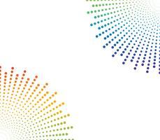 Abstracte halftone kleurrijke het patroonachtergrond van de regenboogpunt - Vectorillustratie