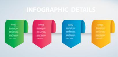 vierkante info grafische Vector sjabloon met 4 opties. Kan worden gebruikt voor web, diagram, grafiek, presentatie, grafiek, rapport, stap voor stap infographics. Abstracte achtergrond
