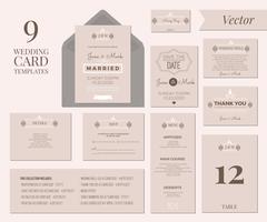 Bruiloft uitnodiging sjabloon vector