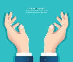 vrije handen. hand met iets