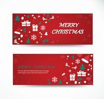 Kerst wenskaart instellen met ruimte patroon achtergrond banner ontwerpen