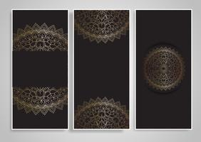 Decoratieve mandala-ontwerpen vector